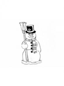 Tampon classique (en bois) avec image no. 8