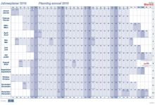 Tableau de planning annuel BEREC B-5666 / 2021
