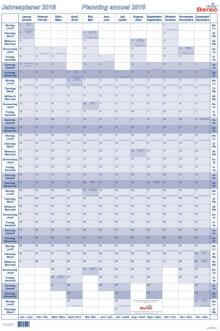 Tableau de planning annuel BEREC B-5668 TF / 2021