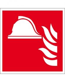 Brandschutzschild Alu Brandbekämpfung 200x200 (0150.A5185)
