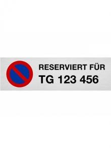 """Parkplatzschild """"RESERVIERT FÜR ..."""""""