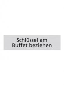 WUWI Standard-Schild - Schlüssel am Buffet beziehen