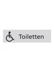 WUWI Standard-Schild - Toiletten mit Rollstuhl-Logo
